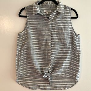 BeachLunchLounge Janera Tie Front Tank Top Size S